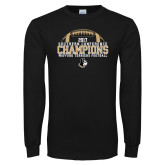 Black Long Sleeve T Shirt-2017 Football Champions - Football