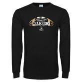 Black Long Sleeve T Shirt-2018 SoCon Football Champions