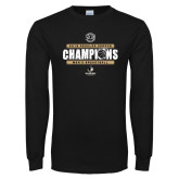 Black Long Sleeve T Shirt-2019 Mens Regular Season Basketball Champions