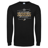 Black Long Sleeve T Shirt-2019 Mens Basketball Champions