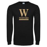 Black Long Sleeve TShirt-W Wofford