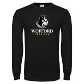 Black Long Sleeve TShirt-Wofford Terriers w/ Terrier