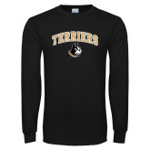Black Long Sleeve TShirt-Terriers Arched w/ Terrier