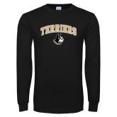 Black Long Sleeve TShirt-Terriers Arched w/ Terrier