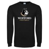 Black Long Sleeve TShirt-Football