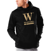 Under Armour Black Armour Fleece Hoodie-W Wofford