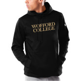 Under Armour Black Armour Fleece Hoodie-Wofford College Stacked