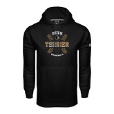 Under Armour Black Performance Sweats Team Hoodie-Wofford College Terrier Baseball w/Seams