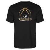 Performance Black Tee-Terrier Basketball w/ Contour Lines