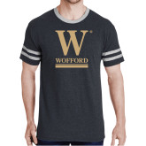 Black Heather/Grey Tri Blend Varsity Tee-W Wofford