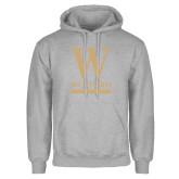 Grey Fleece Hoodie-W Wofford