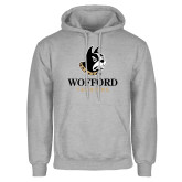 Grey Fleece Hoodie-Wofford Terriers w/ Terrier