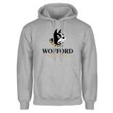 Grey Fleece Hoodie-Wofford Terriers w/ Terrier