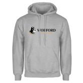 Grey Fleece Hoodie-Wofford Terriers w/ Terrier Flat