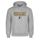 Grey Fleece Hoodie-Wofford College Terriers Stacked