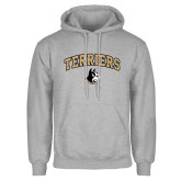 Grey Fleece Hoodie-Terriers Arched w/ Terrier