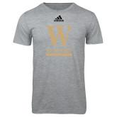 Adidas Sport Grey Logo T Shirt-W Wofford