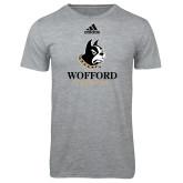 Adidas Sport Grey Logo T Shirt-Wofford Terriers w/ Terrier