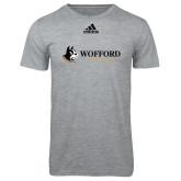 Adidas Sport Grey Logo T Shirt-Wofford Terriers w/ Terrier Flat