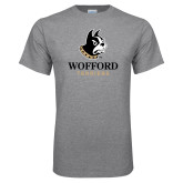 Grey T Shirt-Wofford Terriers w/ Terrier