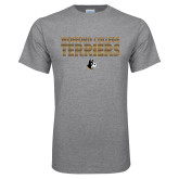 Grey T Shirt-Wofford College Terriers Stacked