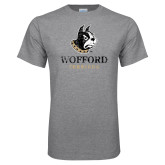 Grey T Shirt-Wofford Terriers w/ Terrier Distressed