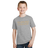 Youth Grey T-Shirt-Wofford College Stacked