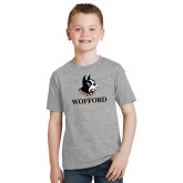 Youth Grey T-Shirt-Wofford Terriers w/ Terrier