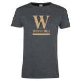 Ladies Dark Heather T Shirt-W Wofford