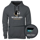 Contemporary Sofspun Charcoal Heather Hoodie-Wofford Terriers w/ Terrier