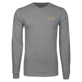 Grey Long Sleeve T Shirt-Wofford College Stacked