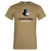 Khaki Gold T Shirt-Wofford Terriers w/ Terrier