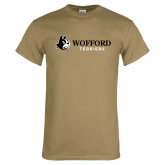 Khaki Gold T Shirt-Wofford Terriers w/ Terrier Flat