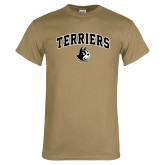 Khaki Gold T Shirt-Terriers Arched w/ Terrier