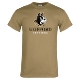 Khaki Gold T Shirt-Wofford Terriers w/ Terrier Distressed