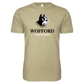 Next Level SoftStyle Khaki T Shirt-Wofford Terriers w/ Terrier