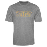 Performance Grey Heather Contender Tee-Wofford College Stacked