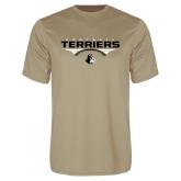 Performance Vegas Gold Tee-Terriers Football Flat w/ Football