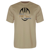Performance Vegas Gold Tee-Wofford College Football w/ Football