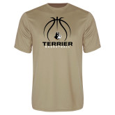 Performance Vegas Gold Tee-Terrier Basketball w/ Contour Lines