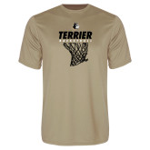 Syntrel Performance Vegas Gold Tee-Terrier Basketball w/ Net
