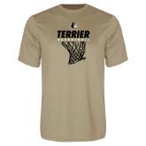 Performance Vegas Gold Tee-Terrier Basketball w/ Net