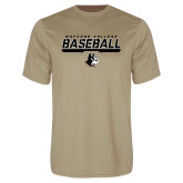Syntrel Performance Vegas Gold Tee-Wofford College Baseball Stencil w/Bar
