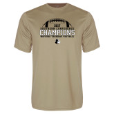 Performance Vegas Gold Tee-2017 Football Champions - Football