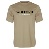 Performance Vegas Gold Tee-Wofford Terriers Word Mark