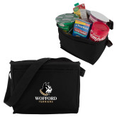Koozie Six Pack Black Cooler-Wofford Terriers w/ Terrier