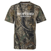 Realtree Camo T Shirt-Wofford Terriers Word Mark
