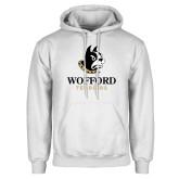 White Fleece Hoodie-Wofford Terriers w/ Terrier
