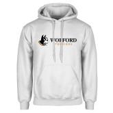 White Fleece Hoodie-Wofford Terriers w/ Terrier Flat