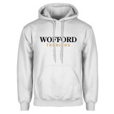 White Fleece Hoodie-Wofford Terriers Word Mark